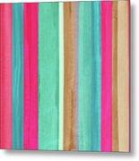Boho Stripe- Art By Linda Woods Metal Print