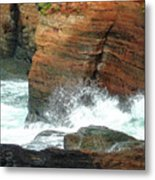 Boiler Bay Waves Metal Print