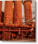 boilers at Sloss Metal Print