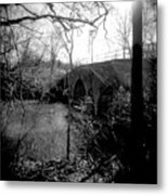 Boiling Springs Bridge Metal Print