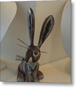 Boink Rabbit Metal Print