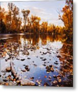 Boise River Autumn Glory Metal Print