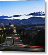 Boise Skyline In Early Morning Hours Metal Print