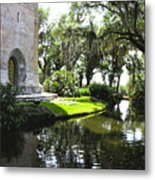 Bok Tower With Moat Metal Print