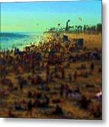 Bokeh Beach Metal Print