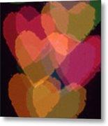 Bokeh Hearts 1 Metal Print