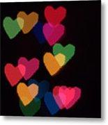 Bokeh Hearts 2 Metal Print