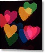 Bokeh Hearts 3 Metal Print