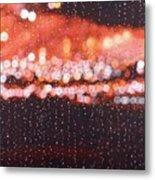 Bokeh - Rainy Night On Mercer Street Metal Print
