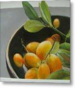 Bol De Kumquats Metal Print