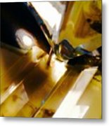 Bold Golden Glow Metal Print