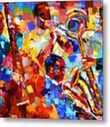 Bold Jazz Quartet Metal Print