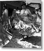 Bolivian Dance Black And White Metal Print