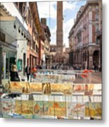 Bologna Artworks Of The City Hanging In  Metal Print