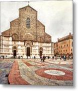 Bologna, Italy San Petronio Basilica Facade Crescentone Metal Print