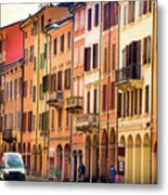 Bologna Window Balcony Texture Colorful Italy Buildings Metal Print