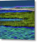 Bolsa Chica Wetlands I Abstract 1 Metal Print