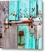 Bolted Door Metal Print
