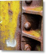 Bolted Iron Metal Print