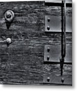Bolted Wood Metal Print