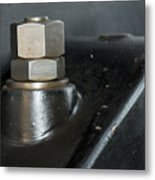 Bolts And Nuts In Industry Metal Print