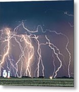 Bolts Over Bushland Metal Print