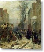 Bombardment Of Paris In 1871 Metal Print
