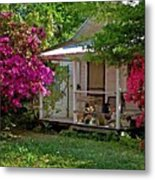 Bon Secour Pink Porch Metal Print
