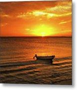 Bonaire Sunset 4 Metal Print