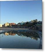 Bondi Wading Pool Reflections Metal Print