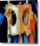 Bone And Paint Abstract Metal Print