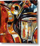 Bone Bass And Drums Metal Print