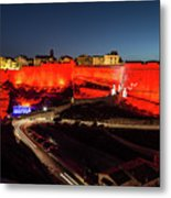 Bonifacio Fortress At Night Metal Print