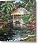 Bonnet House Chickee Metal Print