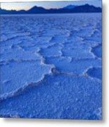 Bonneville Salt Flats At Dusk Metal Print