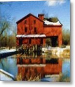 Bonneyville In Winter Metal Print