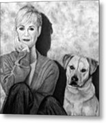Bonnie Hunt And Charlie Metal Print
