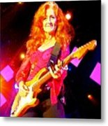 Bonnie Raitt In Concert Watercolor Metal Print