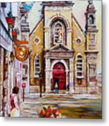 Bonsecours Church Metal Print