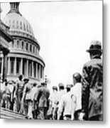 Bonus Army Marchers, 1932 Metal Print