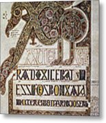 Book Of Lindisfarne Initial Metal Print