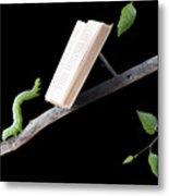 Book Worm Metal Print by Cindy Singleton