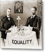 Booker T. Washington Dines Metal Print by Everett