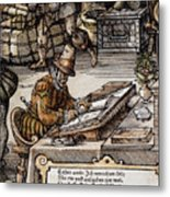 Bookkeeper, 16th Century Metal Print