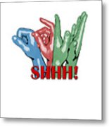 Boom Snap Clap Shhh Metal Print by Lee Brown