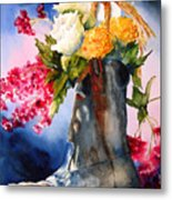 Boot Bouquet Metal Print