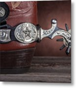 Boot Heel With Texas Spur Metal Print