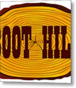 Boot Hill Log Sign Metal Print