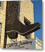 Boot Sign Metal Print by Mark Weaver