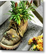 Booted Plant Metal Print